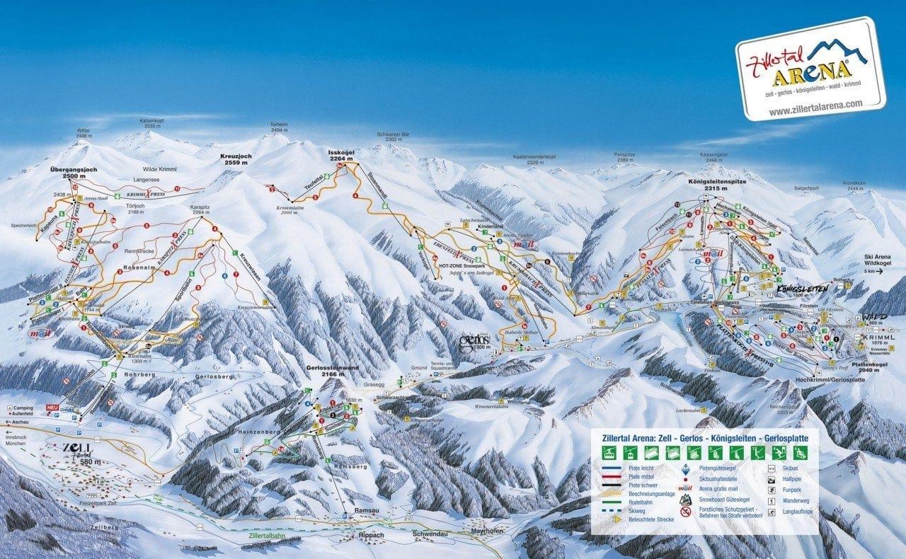 Skipanorama Zillertal Arena - Gerlos