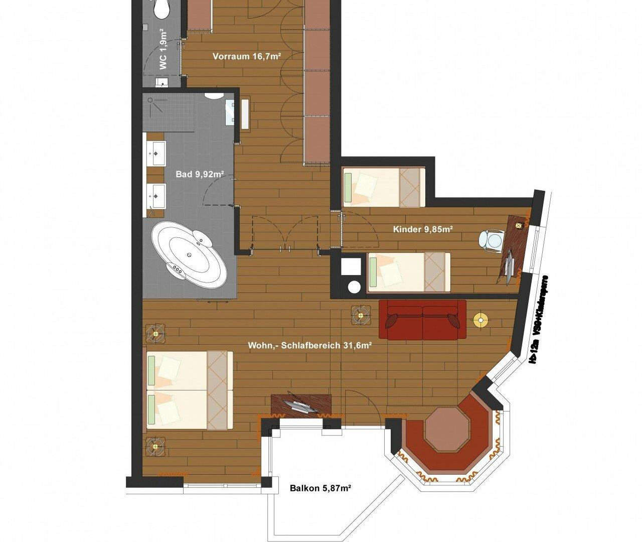 Grundriss bad l nglich haus design m bel ideen und for Design kinderhotel