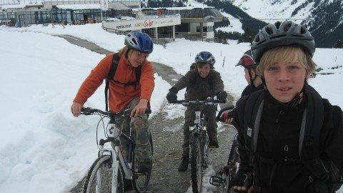 Radeln im Schnee
