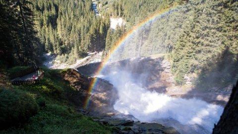 krimml wasserfaelle regenbogen