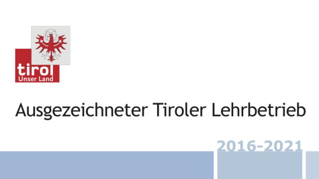 SchildTirolerLehrbetrieb 2016 2021