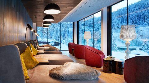 Wellness Lounge Liegen Winter