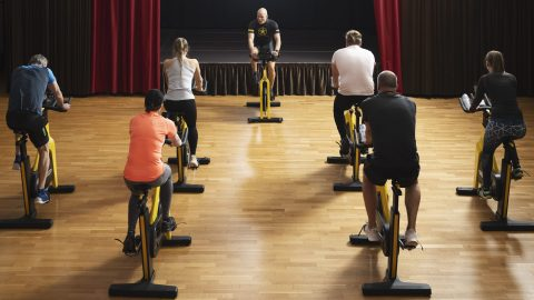 Fitness group cycling 1