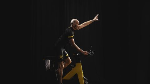 Fitness group cycling Trainer Tom